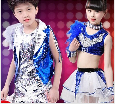 798d34443 Childrens Day Jazz Dance Wear Boy Modern Dance Hip-Hop Performance ...