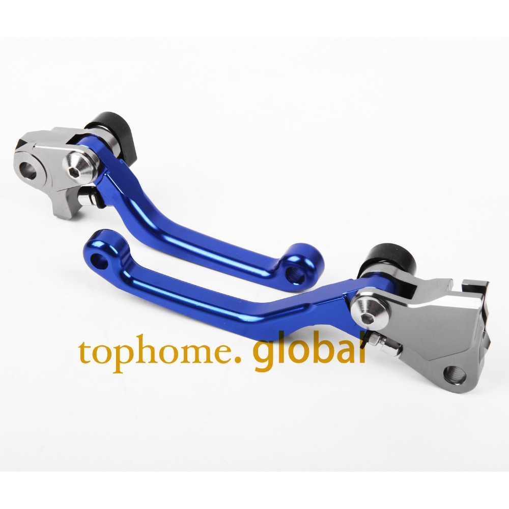 One Pair Top quality CNC Pivot Brake Clutch levers Set For YAMAHA YZ250F 2009 2010 2011 2012 2013 2014 2015 2016 2017 2018 Blue 9 color motorcycle cnc brake clutch levers blade for honda cb1100 gio special 2013 2014 2015 cbf1000 a 2010 2011 2012 2013