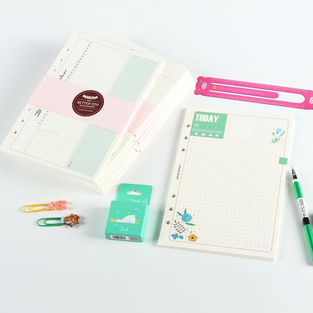Neue Nette Spirale Notebookreplacement Inneren Papierkern 7 Arten