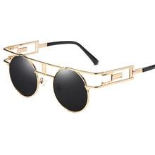 d9ac3ef88d Gafas redondas gafas de sol gafas redondas hombres Steampunk gafas de sol  de cristal Gunes Gozlugu Erkek Color gafas Lentes rayo.
