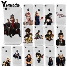 Yinuoda The Vampire Diaries Stefan Damon Salvatore Unique Design Phone Cover for iPhone 7 7plus X XS MAX 6 6S 8 8Plus 5 5S XR