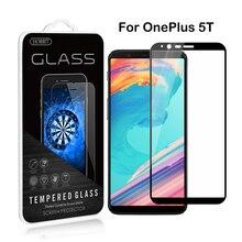 Для OnePlus 5 т 0.3 мм 2.5D шелкография, закаленное Стекло Плёнки полное покрытие закаленное Стекло Экран протектор для OnePlus смартфон