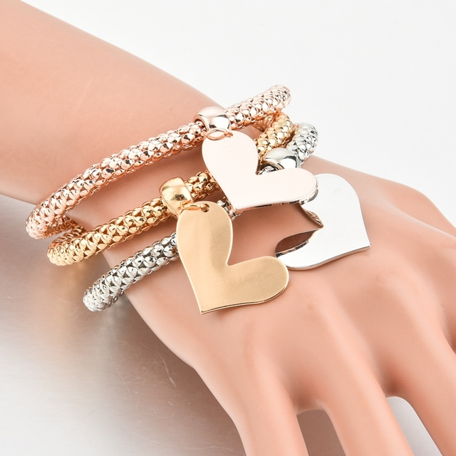 Chicvie дропшиппинг 3 шт/компл на заказ браслеты и с сердечками