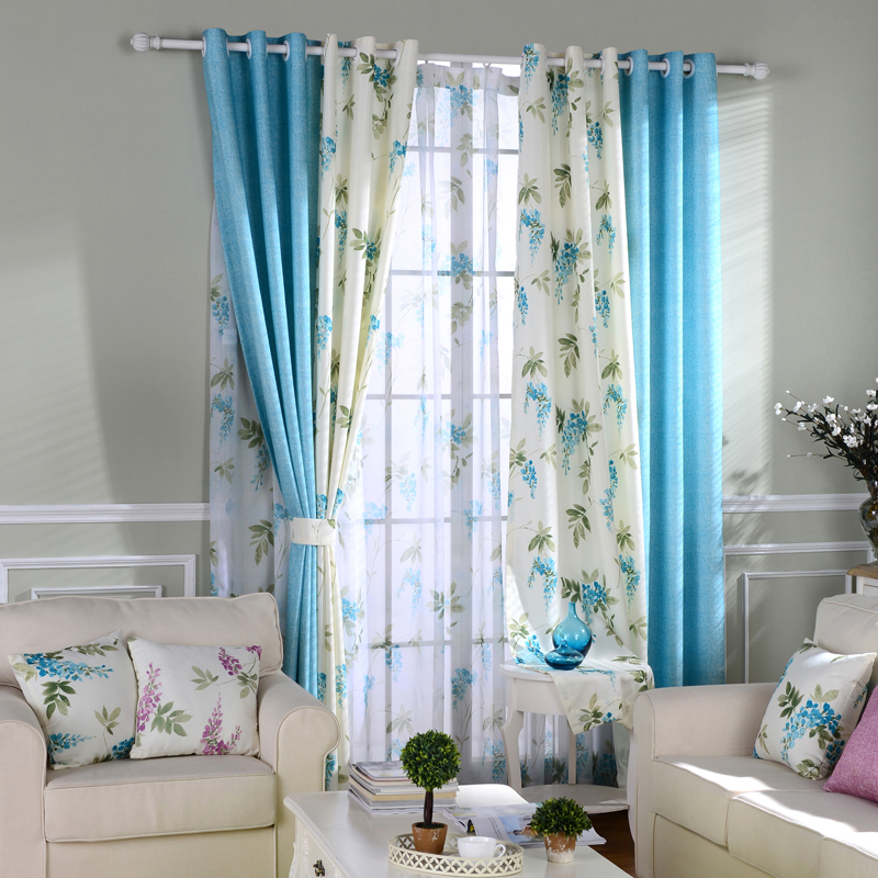 Patterned Curtains Princess Window Panels Rustic Sheer Fabric Blackout Room Divider Flowers Balcony Drape Purple Country Blinds