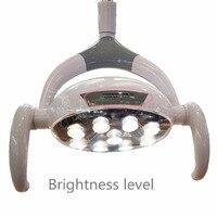 Хорошее качество 9 светодиодов зубные лампа с Сенсор минет свет лампы Цветовая температура регулируется стоматологическом кресле импланта