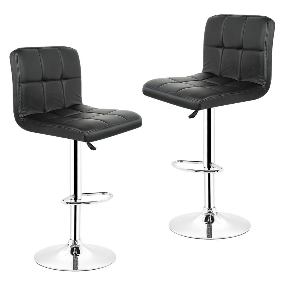 sports shoes 410c7 60956 US $22.19 26% OFF|JEOBEST 2pcs Leather Kitchen Breakfast Bar Stool Swivel  Bar Chair Black Colors Free Shipping in France HWC-in Bar Chairs from ...
