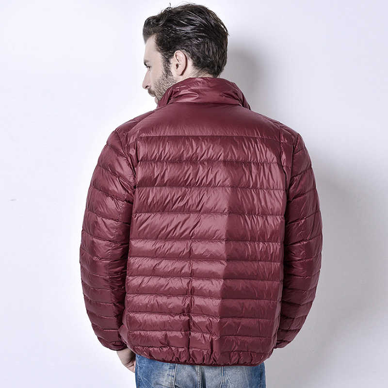 2019 зимняя мужская Сверхлегкая куртка белая пуховая куртка мужская пуховая куртка s на открытом воздухе зимняя мужская повседневная пуховая куртка 002