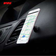 VOLTOP Noble Leather Luminous Magnet Phone Holder Car Accessories 360 Rotation Universal Mobile Phone Support Auto Supplies