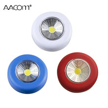 3W COB LED Night Lights Battery Powered Portable Cordless Pocket Wall Lamp Touch Switch Easy Sticked Cabinet Camping Light(China)
