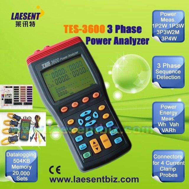 3 phase power analyzer tes-3600 705419446226 | ebay.