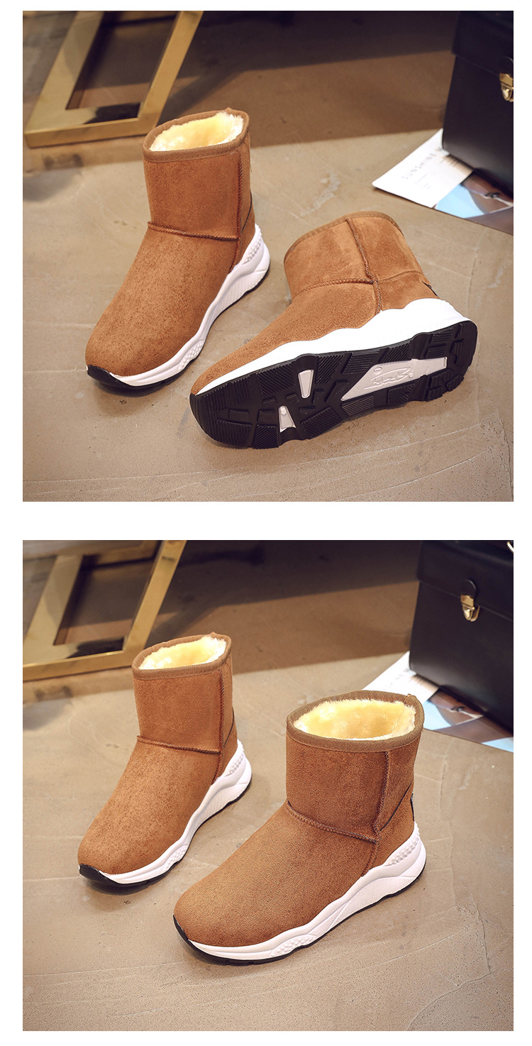 Winter Snow Boots Women Casual Shoes Slip On Warm Plush Women Ankle Boots Flat Heel Sport Ladies Shoes Booties Botas Mujer XZ82 (16)