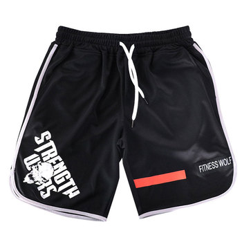 EEHCM  Summer New Quick Dry Man Casual Brand Shorts Bodybuilding Sportswear plus size M-5XL Mens Gyms Joggers skull short pants 1
