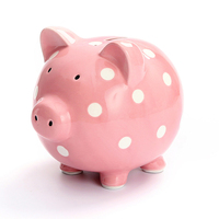 Ceramic Pig Piggy Bank Saving Bank Deposit Box Children's Money Pig Coin Cash Box MoneyDeposit Digital Salvadanaio Piggy LZL090