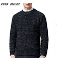 ZOOB MILEY Men Sweater Autumn Winter Warm O-neck High Quality Thick Knitwear Pullovers Fashion Men Jumpers Christmas Gift