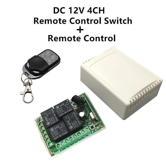 433 Mhz العالمي لاسلكي للتحكم عن بعد التبديل تيار مستمر 12 فولت 4CH وحدة الاستقبال التتابع و RF الارسال 433 Mhz التحكم عن بعد