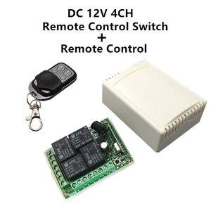 Image 1 - 433 Mhz 범용 무선 원격 제어 스위치 DC 12V 4CH 릴레이 수신기 모듈 및 RF 송신기 433 Mhz 원격 제어