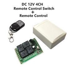 433 Mhz universel sans fil télécommande commutateur DC 12V 4CH relais récepteur Module et RF émetteur 433 Mhz télécommandes