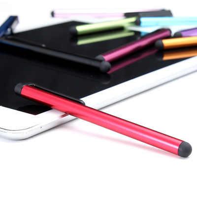 الألومنيوم الهاتف المحمول ستايلس اللمس القلم شاشة ستايلس لسامسونج S5 S6 نوت 3 HTC هواوي شاومي آيفون 6 7 8 زائد أقراص ipad2