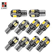 цена на ZXMT 10PCS T10 Led Car Interior Bulb Canbus Error Free T10 White 5730 8SMD LED 12V Car Side Wedge Light White Lamp Car Styling