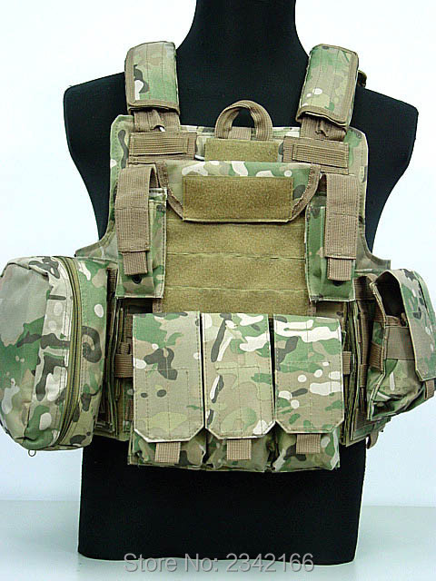 Hot Sale Tactical Vest CS Wargame Airsoft Paintball MOLLE CIRAS Combat Vest CIRAS Tactical Vest With Triple Magazine Pouch airsoft adults cs field game skeleton warrior skull paintball mask