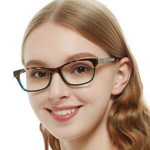 Image 1 - OCCI CHIARI tavsiye moda kadınlar gözlük Demi renk Patchwork reçete Nerd Lens tıbbi optik gözlük çerçevesi BENZON