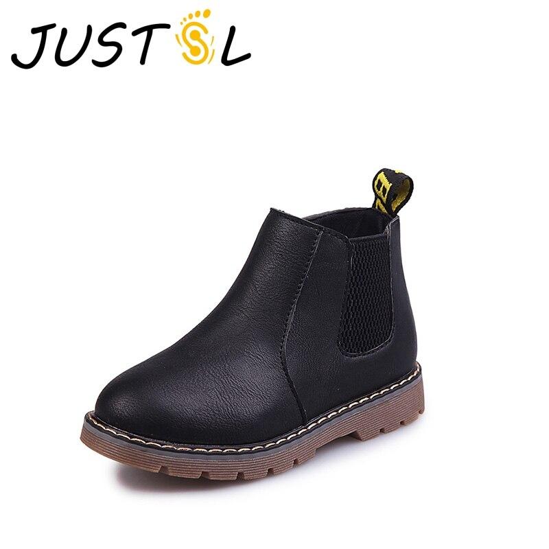 2018 de invierno nuevos niños salvajes botas antideslizantes niño niñas  cómodo británico botas niños botas de moda Martin tamaño 21-36 870f7e2f700
