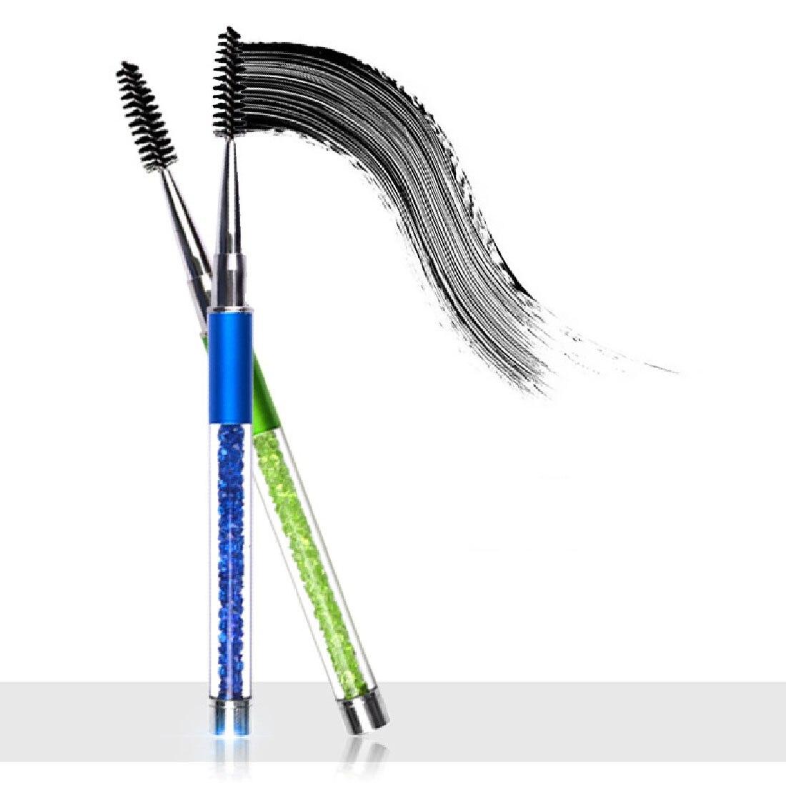 Best Rhinestone Eye Makeup Brush Eyelash Eyebrow Brush Mascara Spiral Wands Applicator Spooler Eyelash Extension Eyelashes Comb