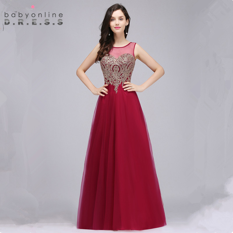 Babyonlinedress Custom Make 34 Colors Lace Chiffon Evening Dress Sexy V Back Sleeveless Evening Gown Robe