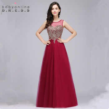 Babyonlinedress Custom Make 34 Colors Lace Chiffon Evening Dress Sexy V Back Sleeveless Evening Gown Robe de Soiree Longue - DISCOUNT ITEM  38% OFF Weddings & Events