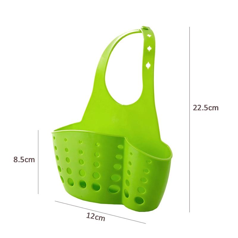 LIYIMENG Sink Shelf Kitchen Sponge Drain Holder Storage Bag Toilet Soap Shelf Organizer Rack Hanging Basket Double Hanging Hag Rack B7