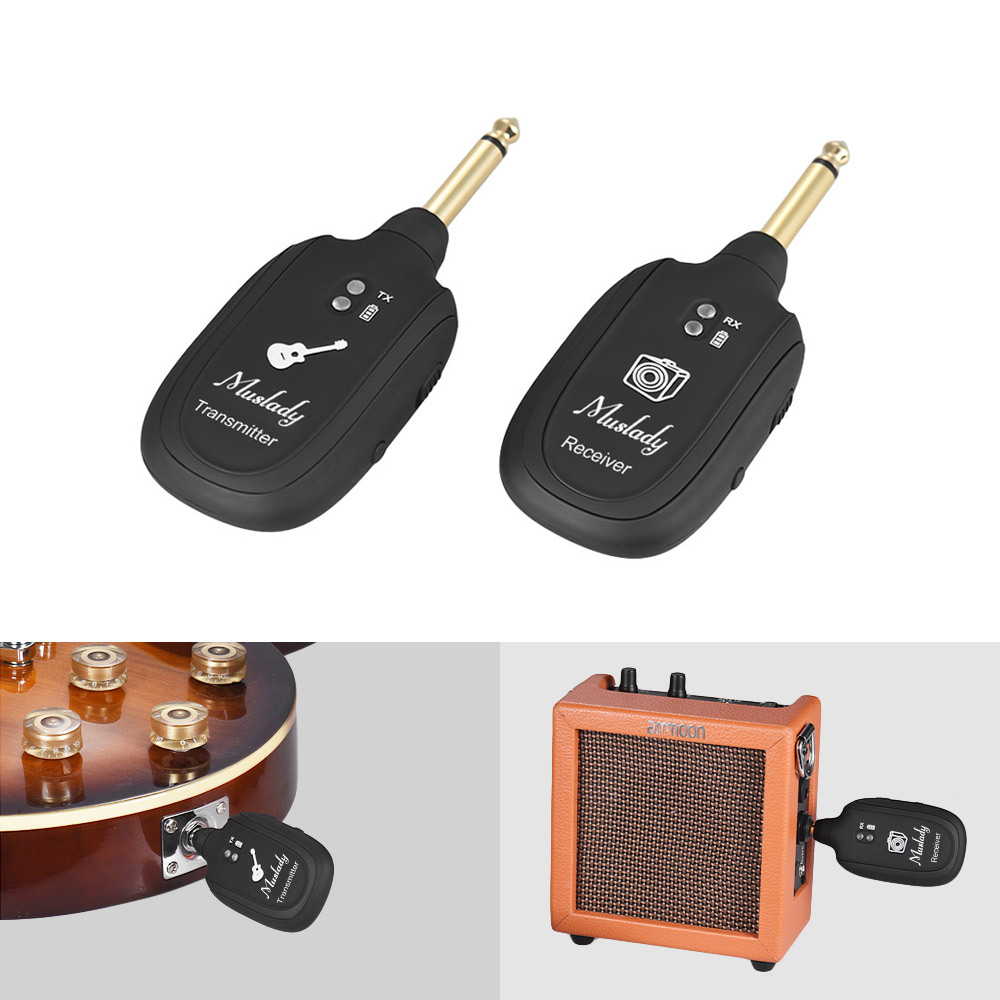 Uhf Electric Guitar Wireless Transmitter Receiver System Set Built Modify Acoustic Into The On Fm In Rechargeable Battery Max 50m Transmission Range Parts Accessories From