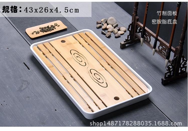 Nouveau, mini bambou thé plateau, style Japonais, Kungfu thé pot trépieds, vidange tiroir, thé outils/accessoires, pour Chinois Puer Thé, puerh,