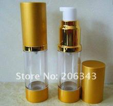 50ML NON-SHINY Gold airless bottle with white pump