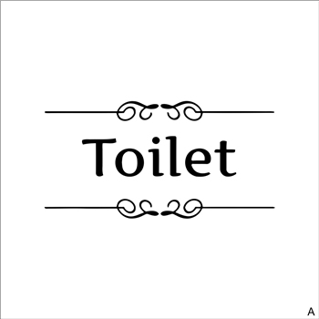 [Hot New Product] Text Wall Stickers Toilet Bathroom Door Vinyl Classic Black And White Decorationl Art Stickers Free Shipping 7