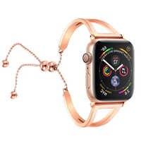 Edelstahl strap Für apple watch band 44mm 40mm correa aplle uhr 42mm 38mm iwatch serie 4 3 2 1 perle handgelenk gurt