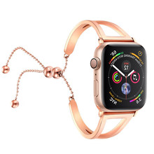 Correa de acero inoxidable para apple watch banda 44mm 40mm correa apple watch 42mm 38mm iwatch serie 4 3 2 1 de la correa de muñeca(China)