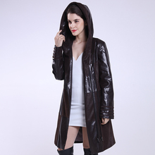 Plus Size Coat 2017 New Jacket Women Long Slim Winter Spring And Autumn Leather Clothing Female Outerwear Fashion Clothes
