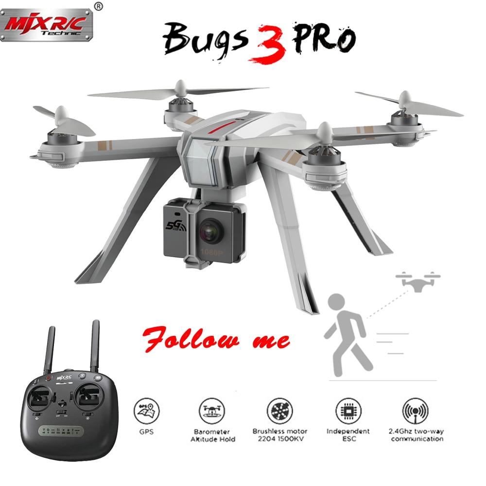 MJX ошибки 3 Pro B3 Pro Радиоуправляемый Дрон с 720 P/1080 P Wi-Fi FPV Камера gps Follow Me режим бесщеточный вертолет Quadcopter VS ошибки 5 Вт