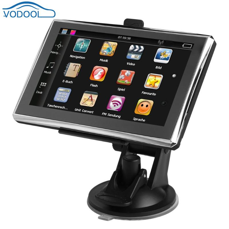 6164b880e781 VODOOL Portable 5in Screen Car GPS Navigator Automobile FM Navigation 8GB  SAT NAV with North America Europe Australia Map
