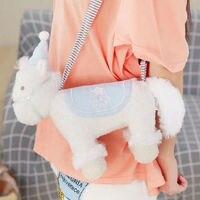 28*30 cm Pony Unicorn Plush Shoulder Bag Toy With Belt Stuffed Animal Toy for Girl Drop Shipping Wholesale ok