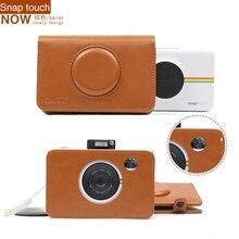 2017 Новое Прибытие Браун PU Кожаный Чехол Сумка для Polaroid Оснастки Сенсорный Камеры