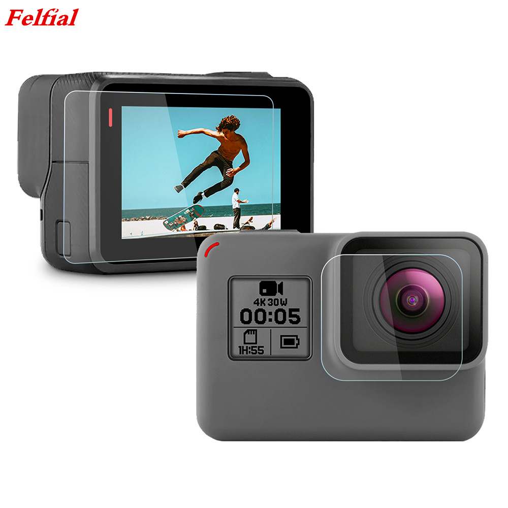 Screen Protector for GoPro Hero 7 Black 6 5 2018 Accessories Protective Film Tempered Glass for