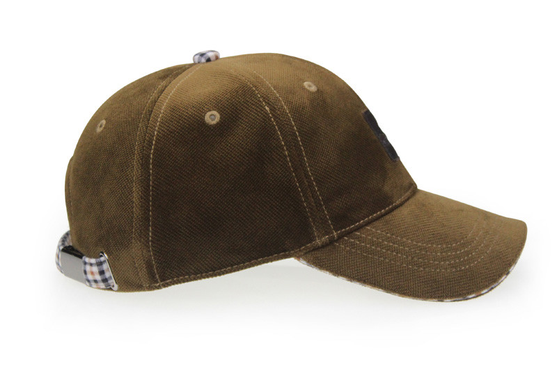 Brushed Cotton Baseball Cap - Side View