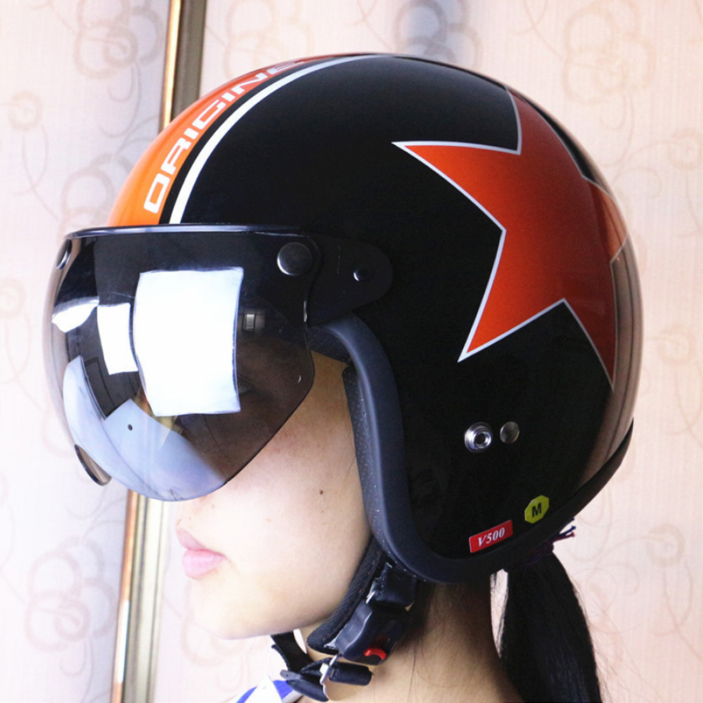 Universal Front Flip Up Visor Wind Shield Lens Windproof 3-Snap Motorcycle Helmet Visor For Motorcycle Helmet Sunglasses chic round lens hipsters street snap fashion black butterfly sunglasses for women