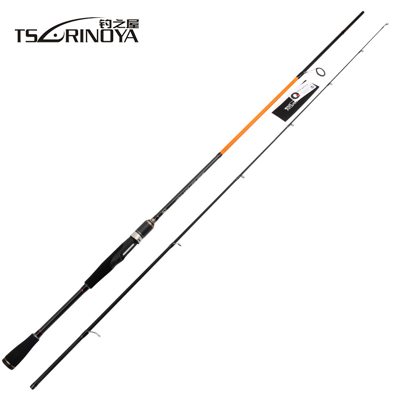TSURINOYA 2.1m M:5-17g ML:3.5-15g Spinning Fishing Rod 2Sec FUJI Accessories Carbon Lure Rods Stick Vara De Pesca Olta 2 secs wood handle spinning fishing rod 1 98m 2 1m 2 4m power ml m mh carbon lure rods vara de pesca peche stick fishingtackle