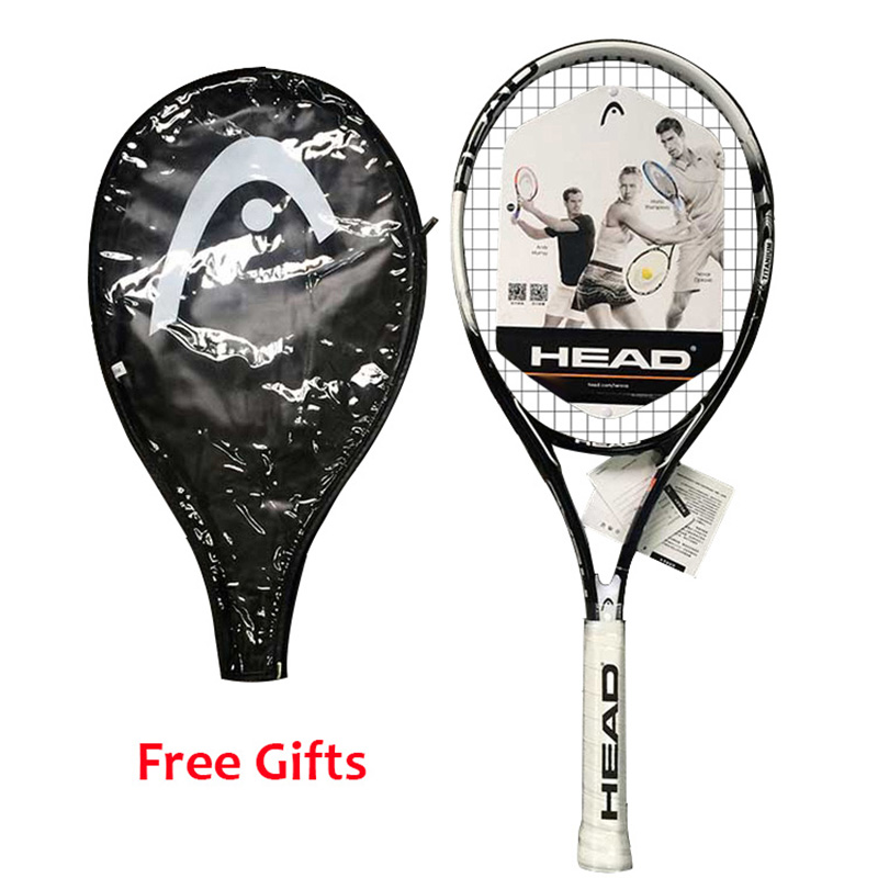 Head Tennis Racket Carbon Professional Pickleball Paddle With String Cover Overgrip Dampener For Tennis Sport Player Junior Men цена