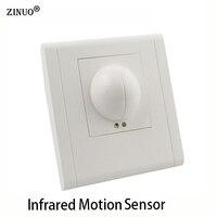ZINUO 220 V ~ 240 V Radar Mikrofalowy Czujnik Ruchu Czujnik Podczerwieni Ciała Przełącznik Auto Suficie Światła Na CZELE lampy