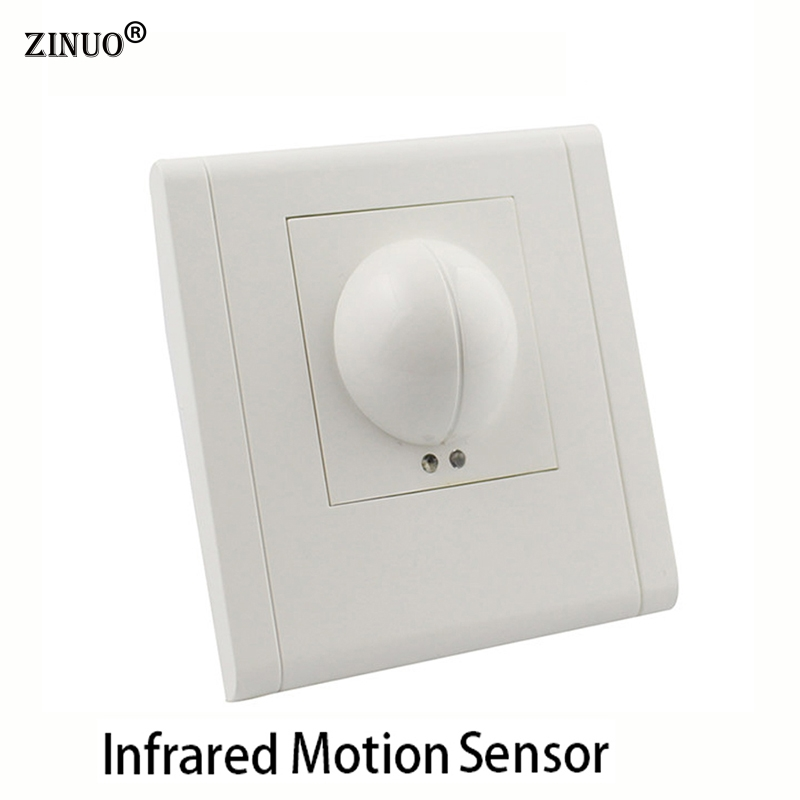 ZINUO 220V~240V Microwave Radar Infrared Body Motion Sensor Detector Light Switch Auto Ceiling Mounted For LED Lamps 220v microwave radar sensor inductive light switch pir occupancy body motion sensing detector 1200w for lamps