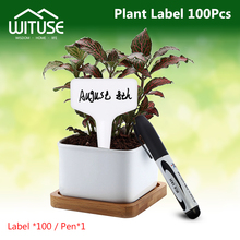 100pc t şekil I şekilli plastik süslemeleri bahçe kreş bahçe bitkileri çiçek saksı bitki etiketleri ve etiket tanımlaması araçları
