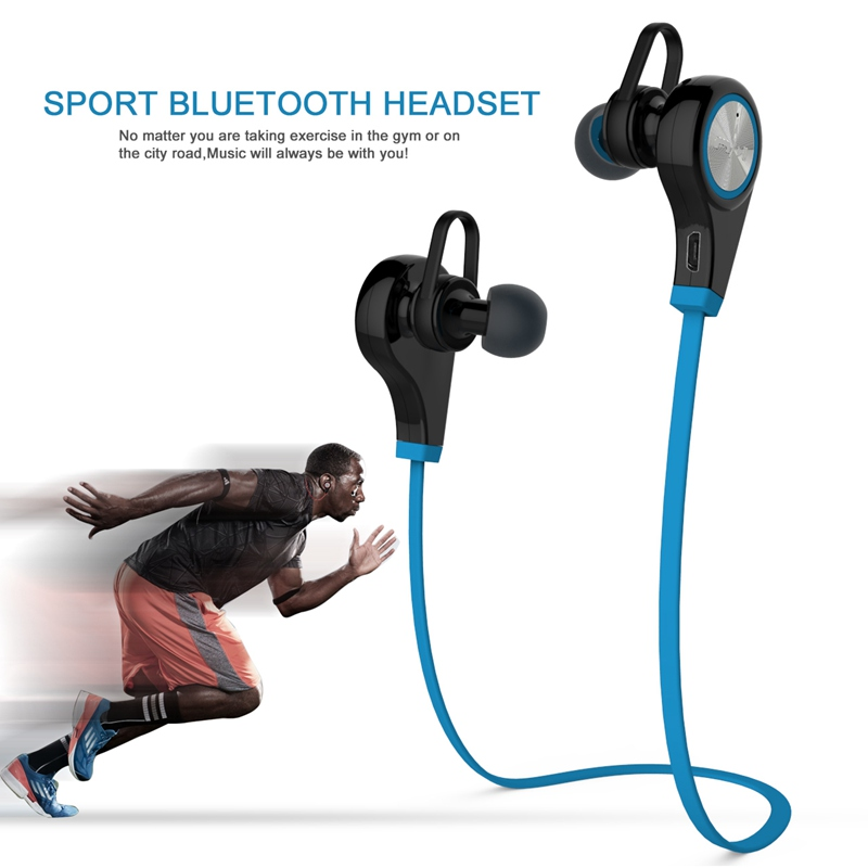 Bluetooth Earphone Wireless Sports Headphones with Mic In ear Headset Running Music Stereo Earbuds Handsfree for Smartphones wireless bluetooth headset running earphone ear hook with mic earbuds for apple meizu xiaomi mobile pc lg sports headphones